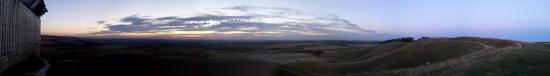 Cherhill White Horse and Monument: Twilight view