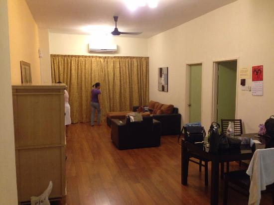 1 Borneo Tower B Service Apartments: the spacious living area attached with kitchen