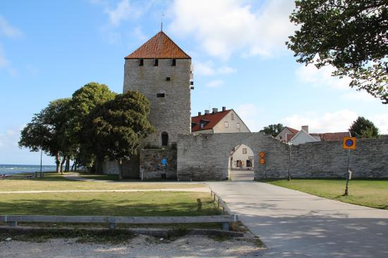 Gotland, Suecia: En del af Visbys bymur.