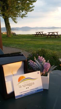 Camping La Spiaggia: Vista lago