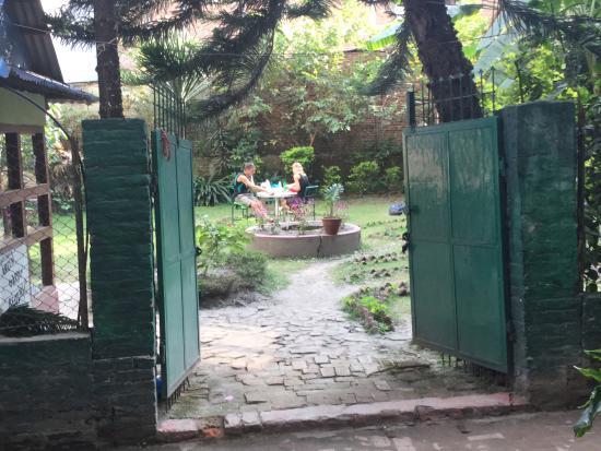Hotel Discovery Inn: garden that belongs to Discovery Inn