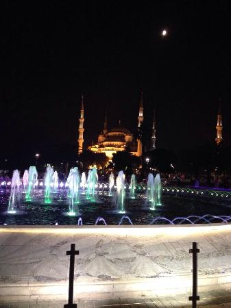Blue House Hotel : Blue mosque  at night
