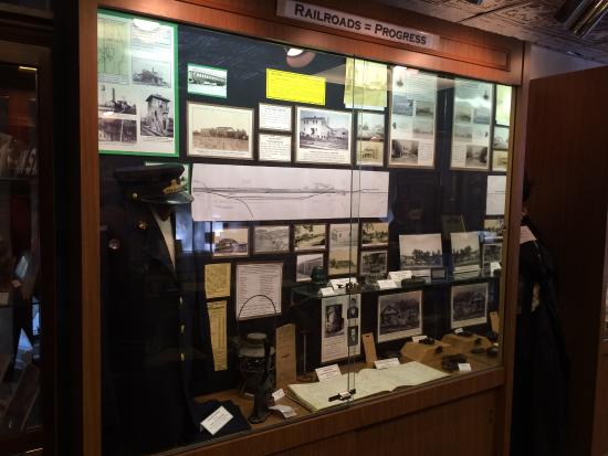 Railroad display at Bridgeville Historical Society Museum