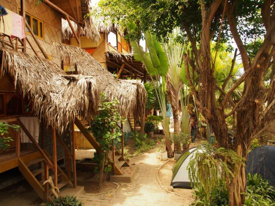 Sol Inn: Le jardin où l'on peut planter sa tente