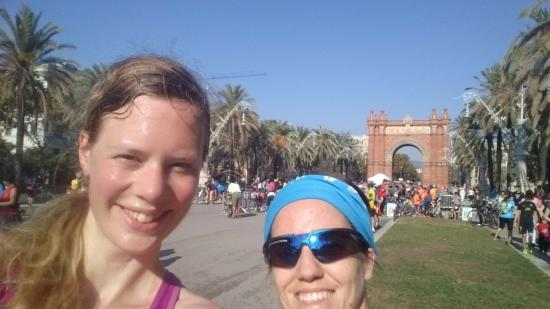 360 Running Barcelona: Me and guide at Arc De Triomf