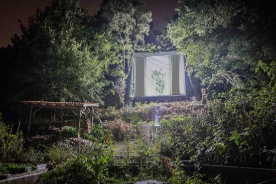 Yurt Holiday Portugal: Open air cinema