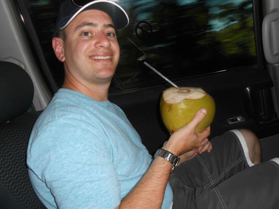 Hanover Parish, Jamaica: Fresh coconut water!
