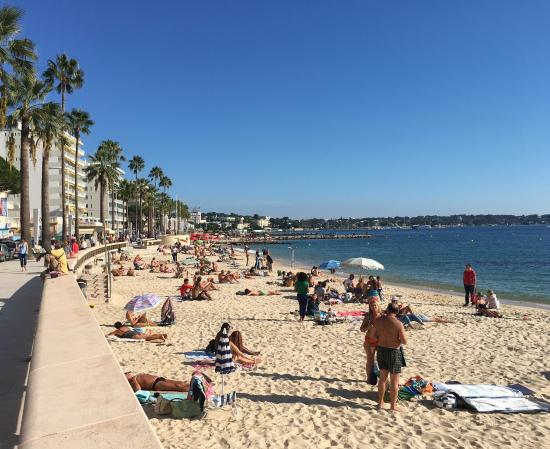 Juan Les Pins Main Beach A Beautiful October Day At The In Des