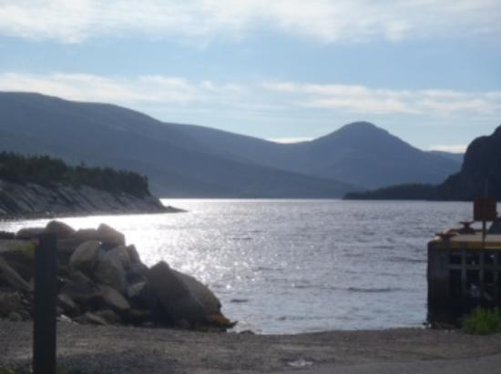 View at Norris Point, were we stayed in cottages