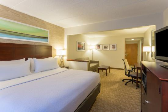 Holiday Inn BWI Airport: Cozy King Room w/Pull out Sofa, Movable Desk, Microwave and Refrigerator
