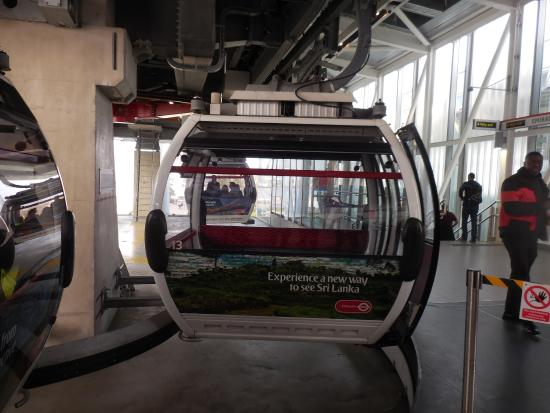Emirates Air Line Cable Car - Royal Docks : Car #13 was our ride!