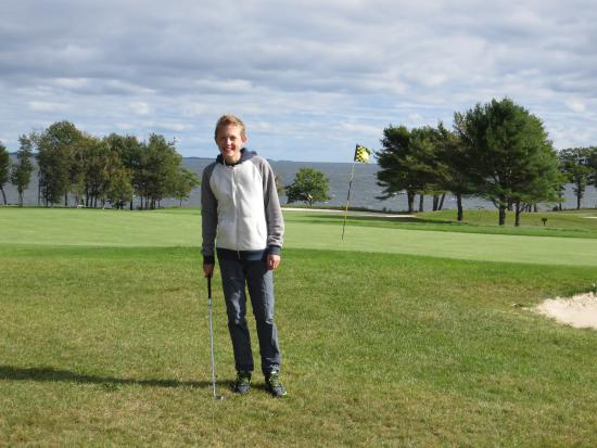 Rockport, ME: Samoset Resort Golf Course on a windy day