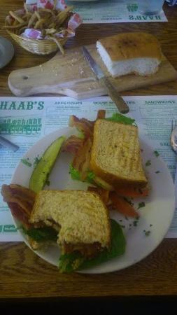 Haab's Restaurant : Mile-High-Bacon!