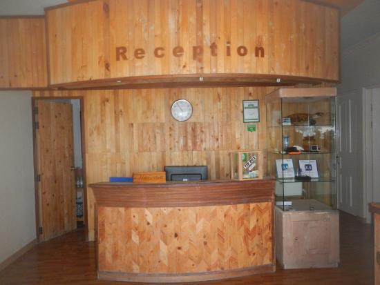 WhiteShell Beach Inn: the reception area