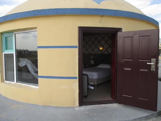 Xilamuren Caoyuan Tian'e Hu Resort: ドアはオートロック