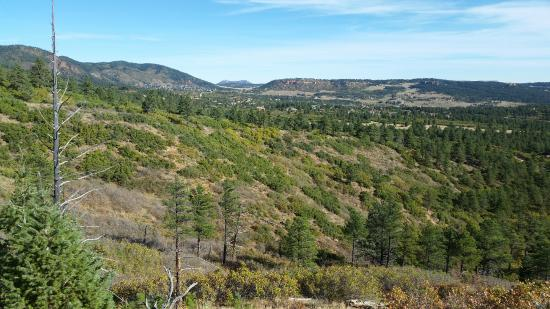 Monument, CO: View from a trail in the park