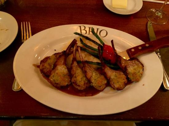 BRIO Tuscan Grille: Gorgonzola Crusted Lamb Chops