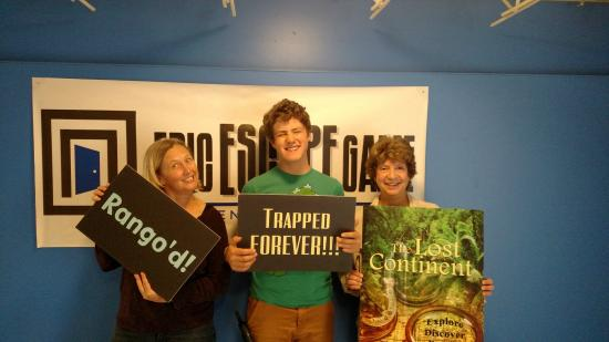 Englewood, Κολοράντο: They had a blast solving puzzles in The Lost Continent!