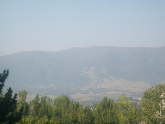 Eden, UT: View from WorldMark Wolf Creek balcony (a little hazy from nearby wildfires)