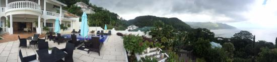 Glacis, Seychelles: View of the villa