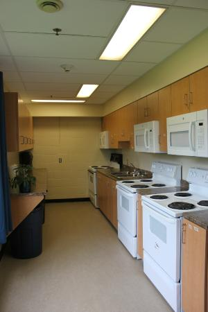 Grenfell Campus Summer Accommodations, Memorial University of Newfoundland: Common Cooking Area in the Arts & Science Residence