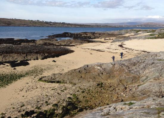 Coral beach near Carraroe in County Galway