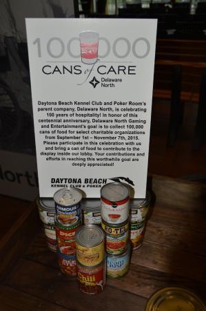 Daytona Beach Racing & Card Club: Food Drive For Local Food Banks