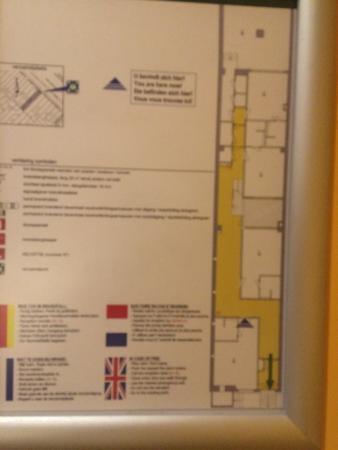 City Hotel Amsterdam: floor plan