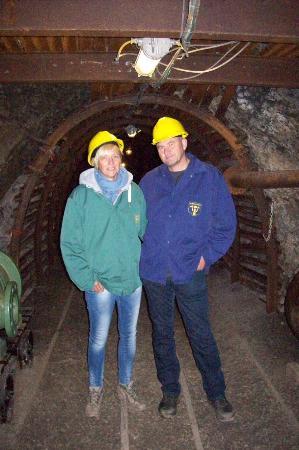 Blegny, Bélgica: dans la mine