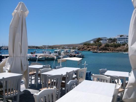Piso Livadi, Grecia: Η θέα από το μαγαζί (Πίσω Λιβάδι)