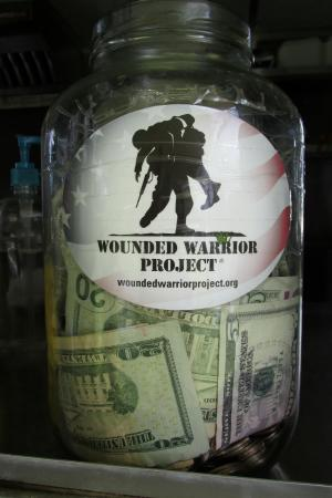 Julio's Beach Burritos: Tips at Julio's go to Wounded Warriors