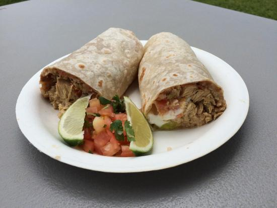 Julio's Beach Burritos: Try the chicken burrito which is packed