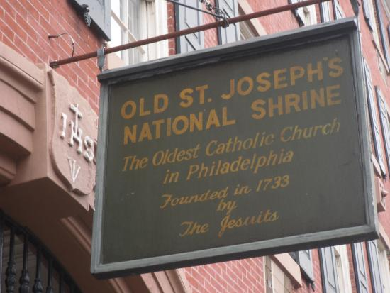 Old St. Joseph's Church: Entrance Sign