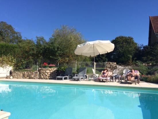Nievre, France: Poolside