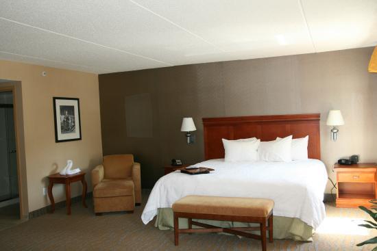 studio suite vanity and bathroom picture of hampton inn. Black Bedroom Furniture Sets. Home Design Ideas