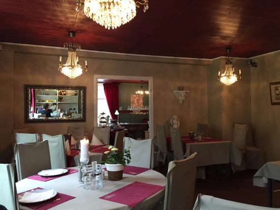 Storfors, Sweden: Breakfastroom and dinner restaurant of the hotel.