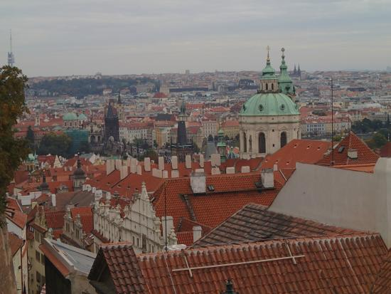 La Boutique Hotel Prague : from the castle, drinking beer on the terrace