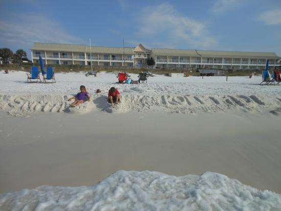 view of sea oats motel from the beach