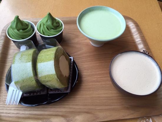 the green tea latte milk green tea green tea ice cream green tea