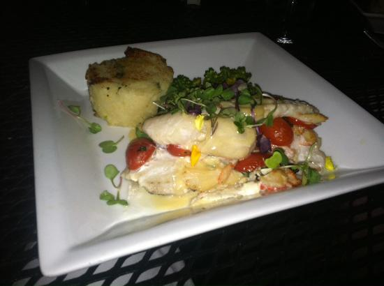 Pulaski, NY: Halibut with lemon thyme buerre blanc
