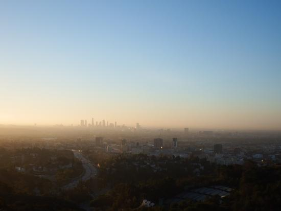 Hollywood Bowl Overlook Sunrise Over Los Angeles