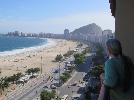 Portobay Rio De Janeiro Hotel View Se Down Copacabana Beach From Our Balcony