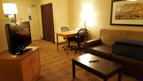 Extended Stay America - Madison - Junction Court: Sofa & desk-table