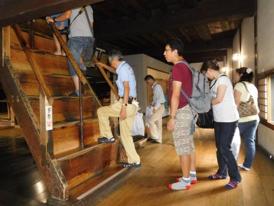 犬山城, 城内の急勾配階段