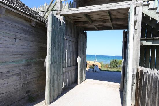 Colonial Michilimackinac: North gate, toward the lake