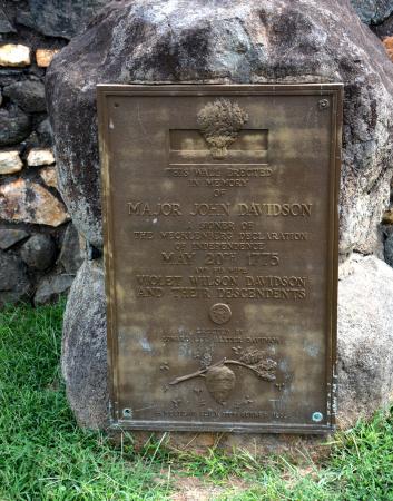 Historic Rural Hill Farm: Plaque Honoring John Davidson, owner of Rural Hill