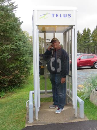 L.M. Montgomery's Cavendish National Historic Site of Canada: A public phone booth on PEI