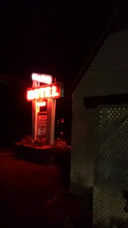 Hillside Motel by Night