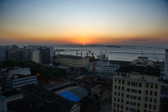 Pousada Casa Vila Bela: Atardecer desde la Habitacion Bahia de Todos los Santos
