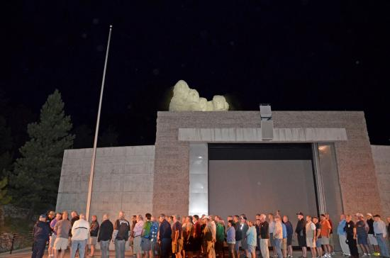 Mount Rushmore National Memorial The Lighting Ceremony with the Veterans on stage & The Lighting Ceremony with the Veterans on stage - Picture of ... azcodes.com